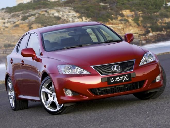 Front Right Maroon 2008 Lexus IS 250 Car Picture