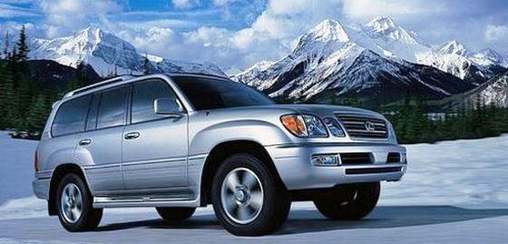Front Right Silver 2007 Lexus LX470 SUV Picture