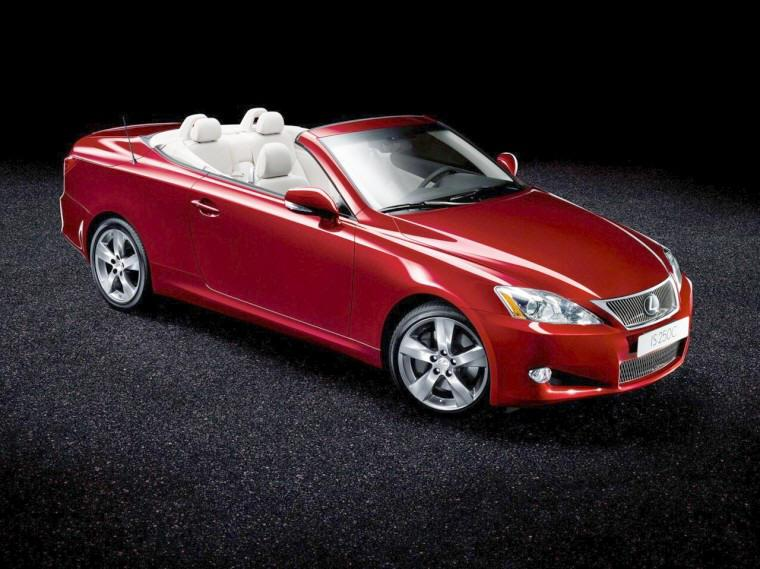 Top view 2009 Lexus IS 250 Convertible Car Picture