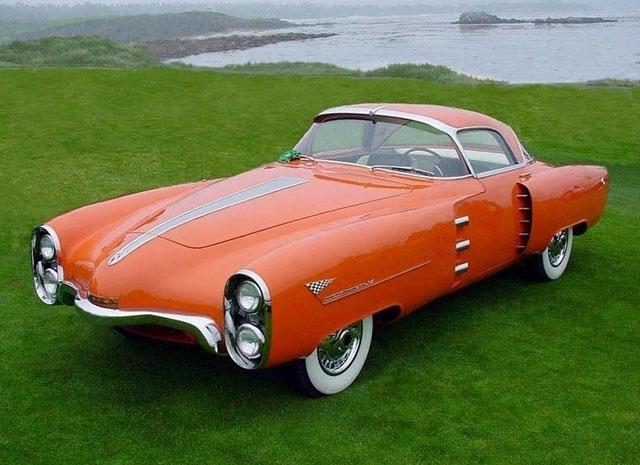 Front Left Orange 1955 Lincoln Indianapolis Concept Car Picture