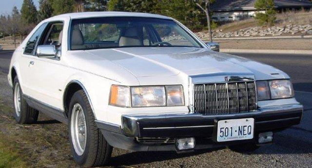 Front Right White 1989 Lincoln Mark VII Car Picture