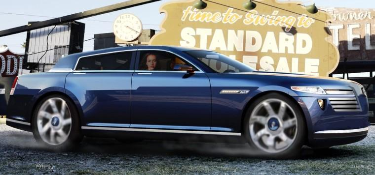 Right Side Blue 2009 Lincoln Town Car Concept Car Picture