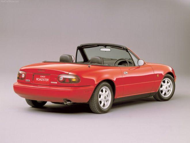 Rear Right 1989 Mazda MX-5 Miata Convertible Car Picture