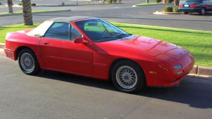 Front Right Red 1990 Mazda RX-7 Car Picture