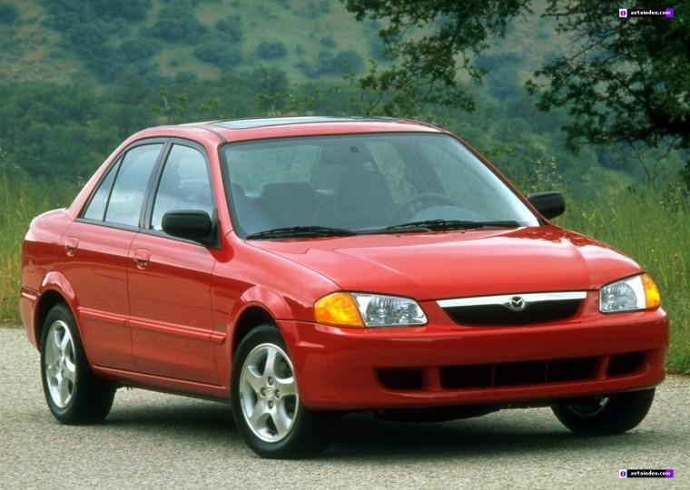 Front Right Red 1999 Mazda Protege Car Picture