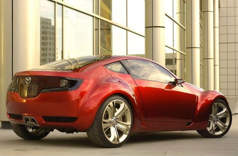 Rear Right Red 2006 Mazda Kabura Concept Car Picture