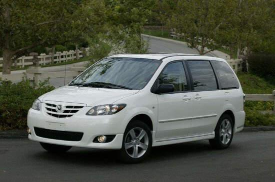 Front left White 2005 Mazda MPV Car Picture