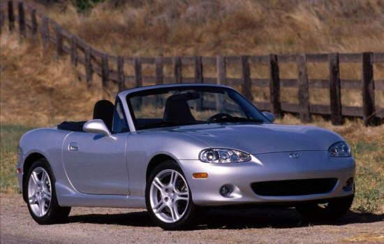 Front Right Silver 2005 Mazda Miata MX-5 Car Picture