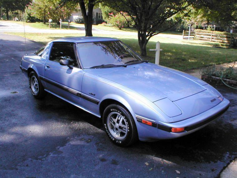 Front Right Purple 1983 Mazda RX7 Car Picture