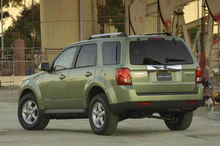 Rear Left Green 2008 Mazda Tribute SUV Picture