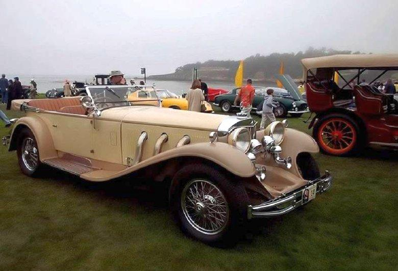 Front RIght 1930 Mercedes SS Tourer Car Picture