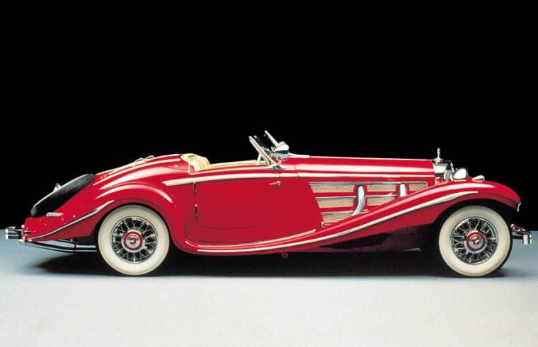 Right Side Red 1935 Mercedes-Benz 540K Spezial Roadster