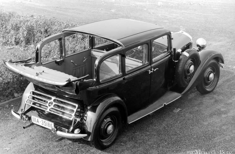 Rear Top Right 1936 Merdedes-Benz 260 D Car Picture