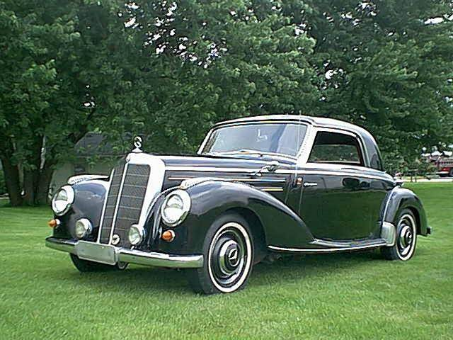 Front Left Gray 1955 Mercedes-Benz 220 Car Picture