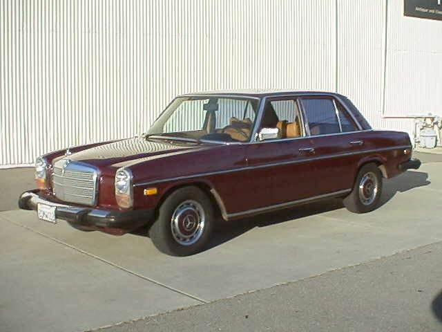 Front Left Maroon 1974 Mercedes-Benz 230 Car Picture