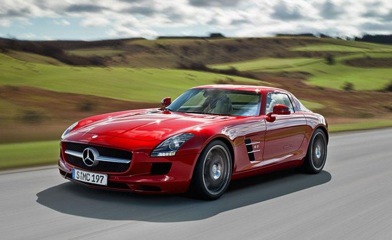 Front Left Red 2012 Mercedes-Benz SLS Roadster Picture