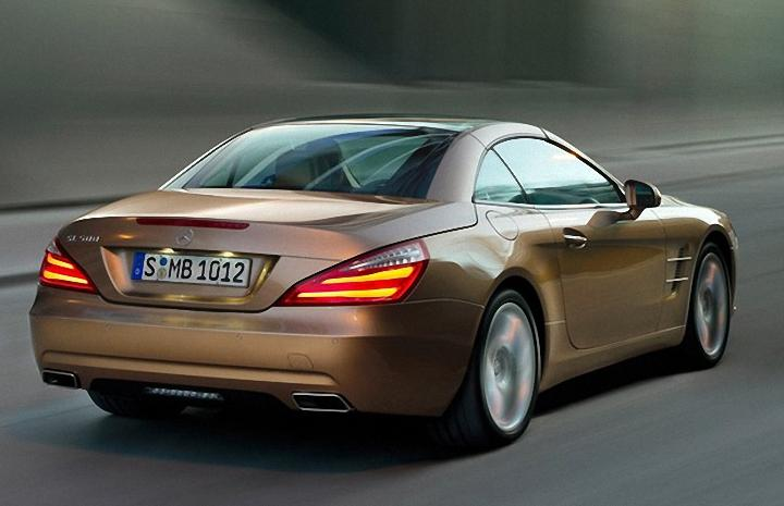 Rear Right Brown 2013 Mercedes-Benz SL Car Picture