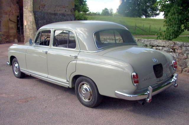 Rear Left 1959 Mercedes-Benz 220S Berline Car Picture