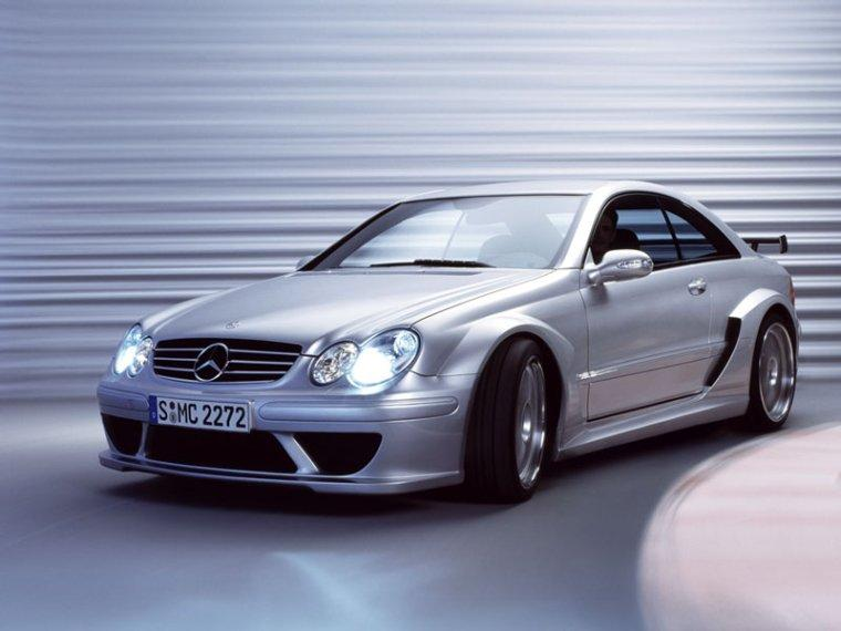 Front left Silver 2004 Mercedes-Benz CLK Car Picture