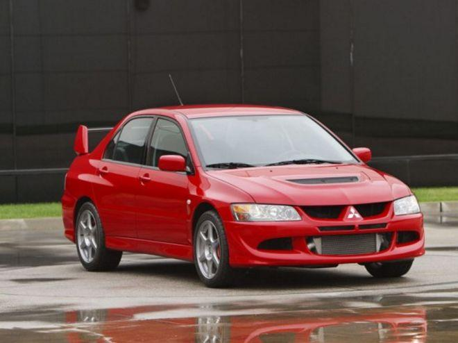 Front Right Red 2003 Mitsubishi Lancer Car Picture