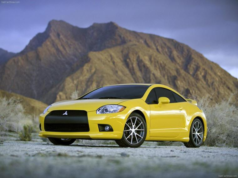 Front left Yellow 2009 Mitsubishi Eclipse GT Car Picture