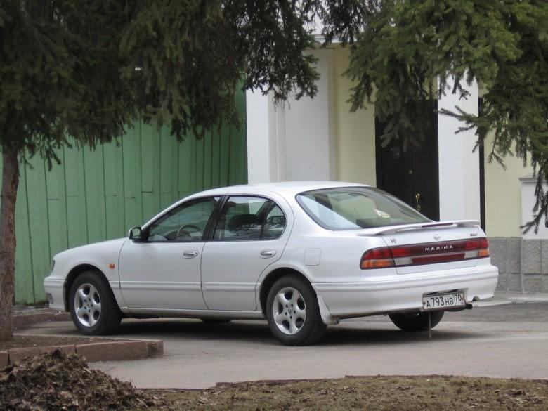 Rear Left White 1995 Nissan Maxima Car Picture