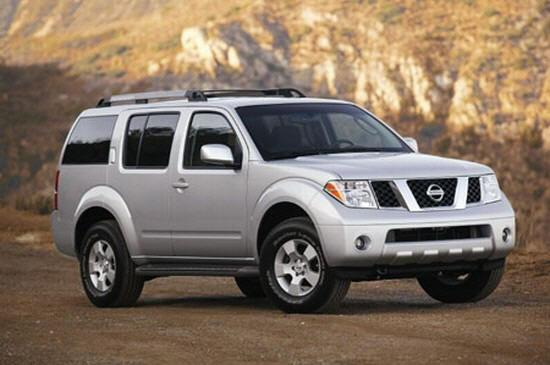 Front Right Gray 2005 Nissan Pathfinder Car Picture