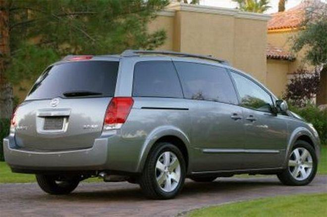 2004 Nissan Quest Rear Right Side Van Picture