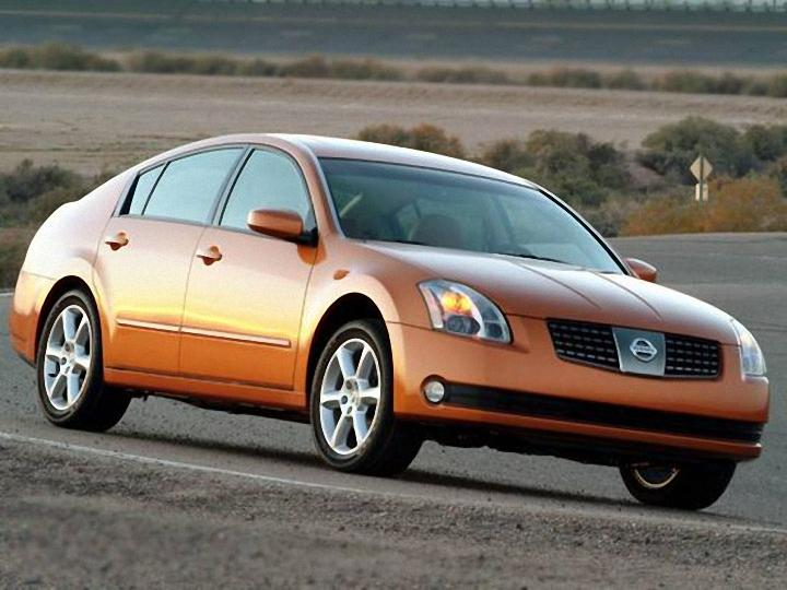 Front Right Orange 2006 Nissan Maxima Car Picture