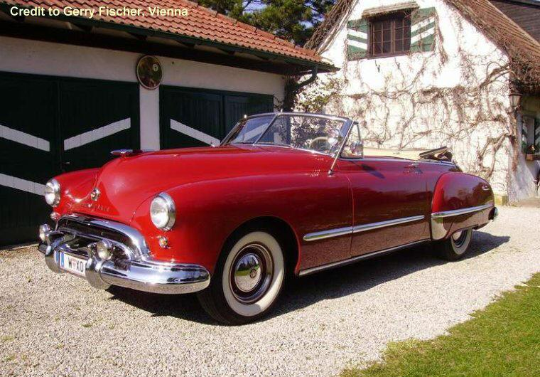 Front Left Red 1948 Oldsmobile Futuramic Car Picture