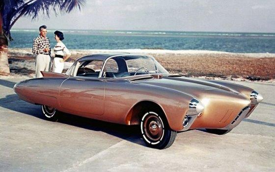 Front Right 1956 Oldsmobile Golden Concept Car
