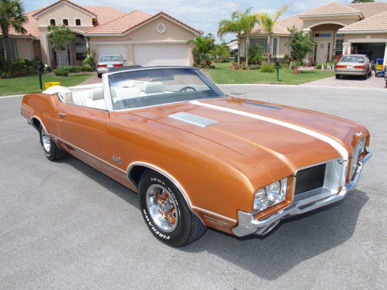 Top Right 1971 Oldsmobile 442 Convertible Car Photo