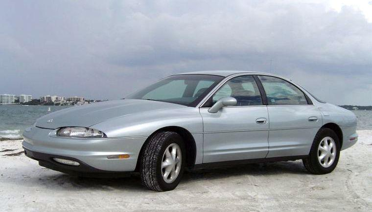 Front left Silver 1996 Oldsmobile Aurora Car Picture