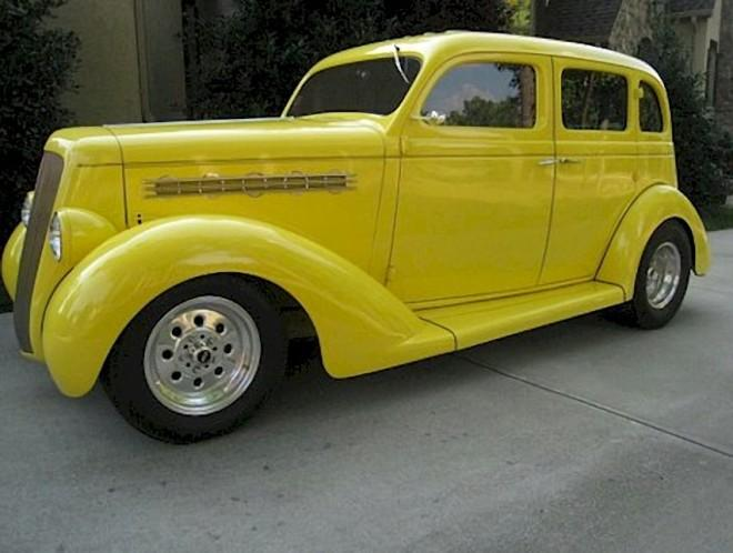 Frpmt Left Yellow 1935 Plymouth Business Sedan Picture