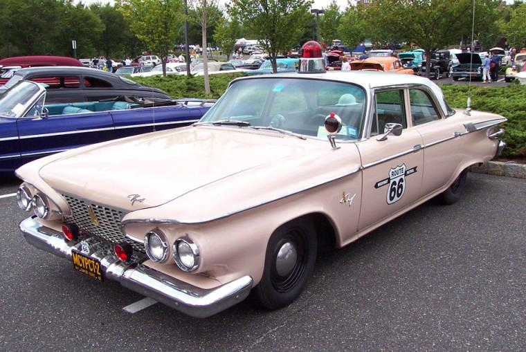 Front Left 1961 Plymouth Fury Police Car Picture
