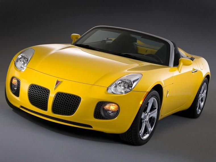 Front Left Yellow 2007 Pontiac Solstice GXP Car Picture