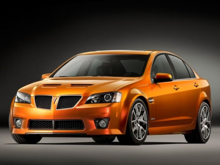 Front Left Orange 2009 Pontiac G8 GXP Car Picture