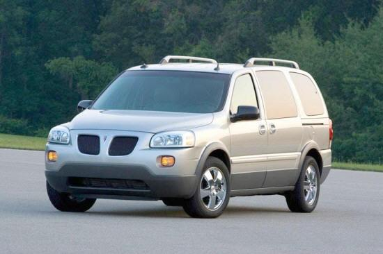 Front left Gray 2005 Pontiac Montana Car Picture