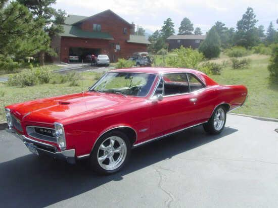 Front left red 1966 Pontiac GTO Car Picture