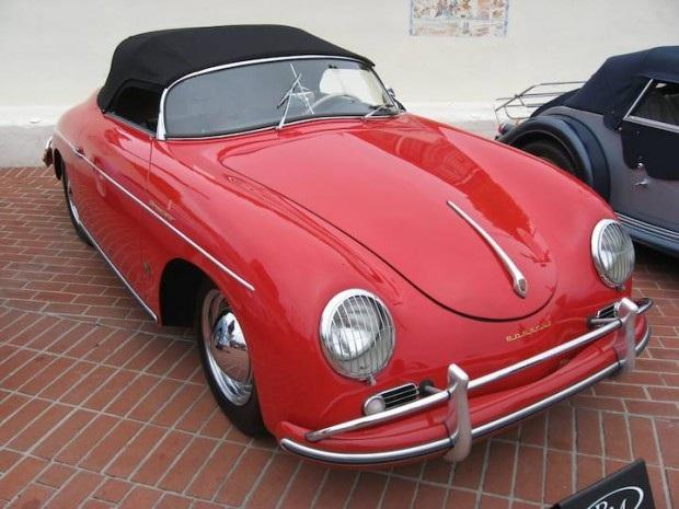 Front Left Red 1957 Porsche 356A Speedster Car Picture