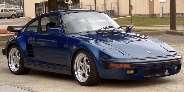 Front Right Blue 1974 Porsche 911 Car Picture