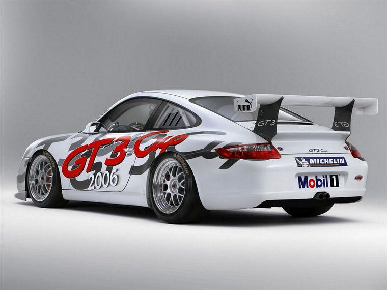 Rear left white 2005 Porsche 911 GT3 Car Picture