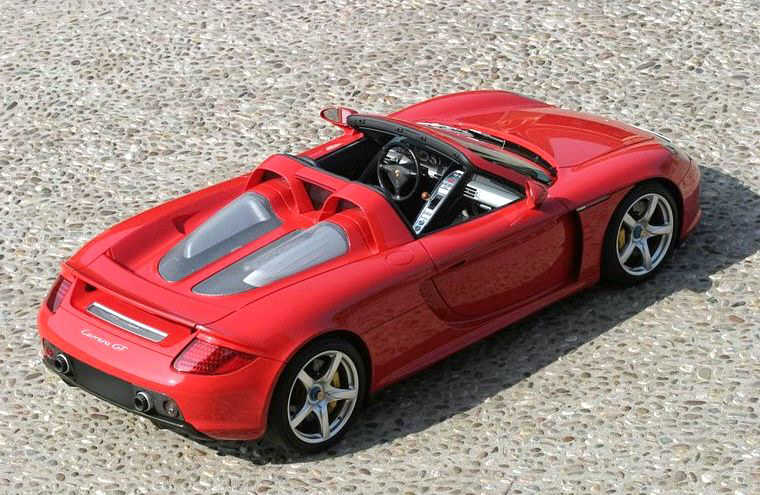 Top Rear Right Red 2006 Porsche Carrera GT Car Picture