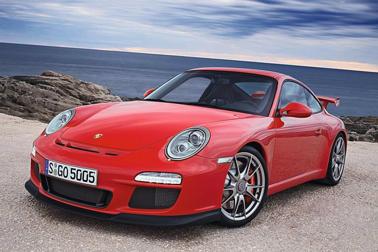 Front Left Red 2010 Porsche 911 GT3 Car Picture