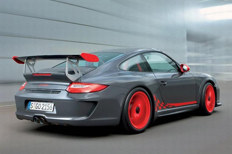 Rear Right Gray Porsche 911 GT3 RS Car Picture
