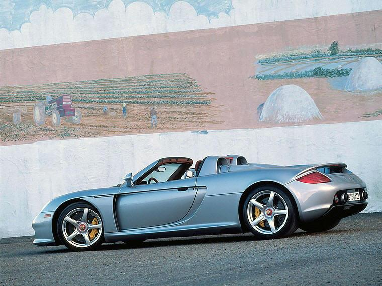 Left Side Porsche Carrera GT Convertible Car Picture