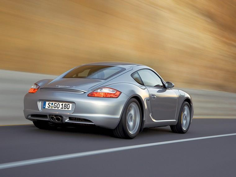 Rear Right Silver Porsche Cayman S Car Picture