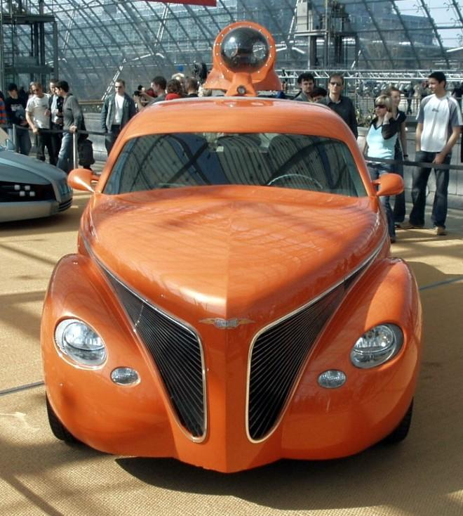 Front View Orange Rinspeed Tatooo Car Photo
