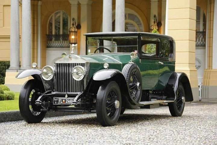Front Left Green 1925 Rolls-Royce  Phantom