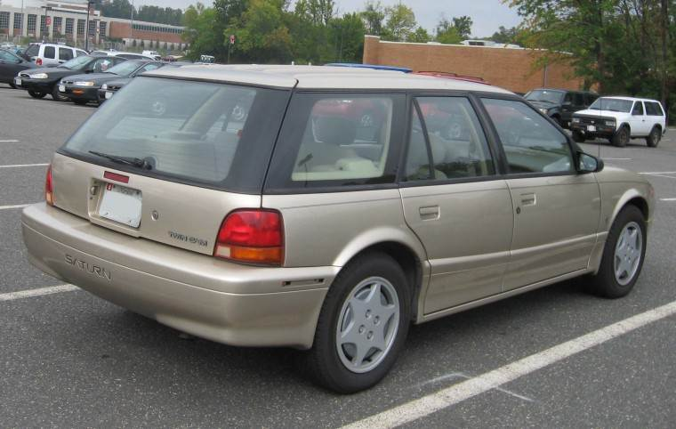 Rear Right Silver 1991 Saturn SW Station Wagonr Picture